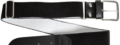 Wilson Adult Elastic Baseball Belt, Black