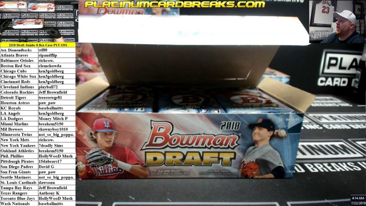 2018 Bowman Draft Baseball Jumbo 8 Box Case PYT 391 - 2018 Bowman Draft Baseball Jumbo 8 Box Case PYT #391