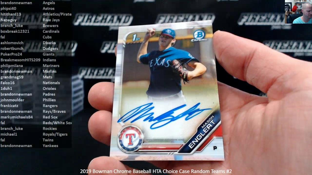 2019 Bowman Chrome Baseball HTA Choice Case Random Teams 2 92019 - 2019 Bowman Chrome Baseball HTA Choice Case Random Teams #2 ~ 9/20/19