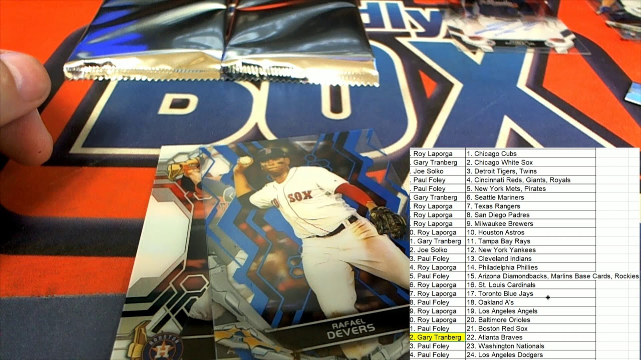 2019 Topps High Tek Baseball FILLER A BREAK ID 19HTEKBB2TR218 - 2019 Topps High Tek Baseball FILLER A & BREAK ID 19HTEKBB2TR218