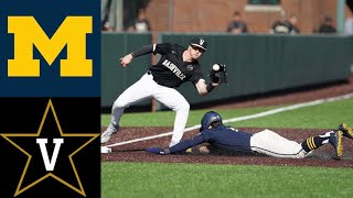 Michigan Wolverines vs Vanderbilt Commodores College Baseball Highlights - Michigan Wolverines vs Vanderbilt Commodores | College Baseball Highlights